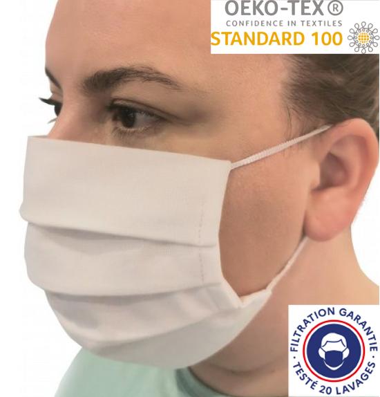 Masque okeo tex certifié filtrant certifié lavable 20 fois